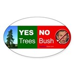 """Yes Trees."" Oval Sticker (10)"