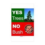 """Yes Trees."" Rect Sticker (10)"