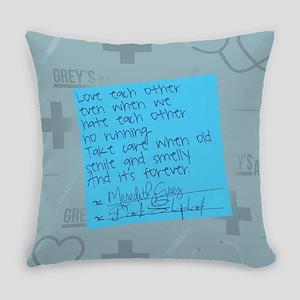 Greys Anatomy Sticky Note Everyday Pillow