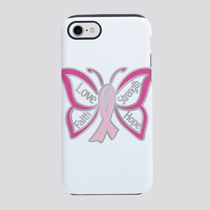 BREAST CANCER BUTTERFLY iPhone 8/7 Tough Case