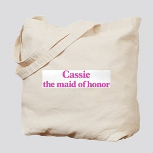 Cassie the maid of honor Tote Bag