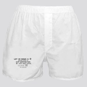 Let us make a special effort to stop Boxer Shorts