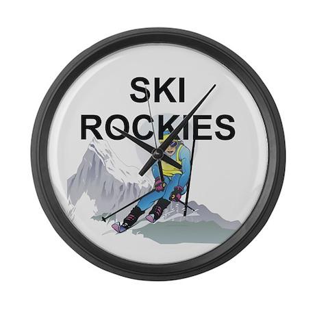 TOP Ski Rockies Large Wall Clock