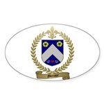 MERCIER Family Crest Oval Sticker