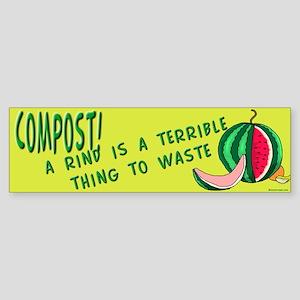 Composting Bumper Sticker