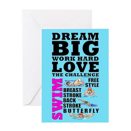 Dream Big Birthday Card Swim F 1420 By Playstrong