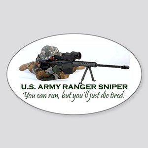 ARMY RANGER SNIPER Oval Sticker