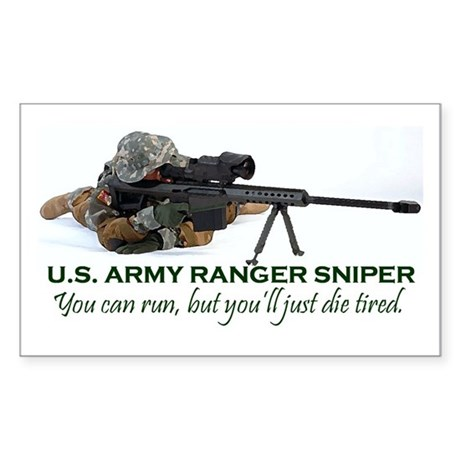 ARMY RANGER SNIPER Rectangle Sticker