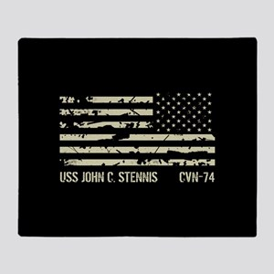 USS John C. Stennis Throw Blanket