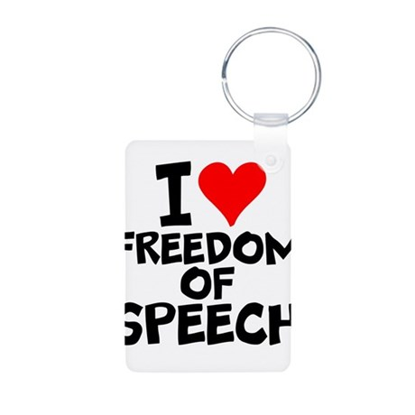 I Love Freedom Of Speech Keychains by interestsbest2