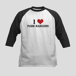 I Love Park Rangers Kids Baseball Jersey