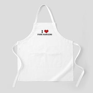 I Love Park Rangers BBQ Apron