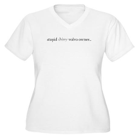 Stupid Volvo- Women's Plus Size V-Neck T-Shirt