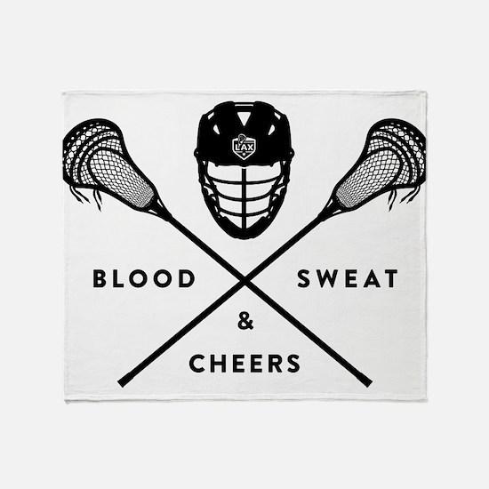 Blood_Sweat_Cheers Throw Blanket