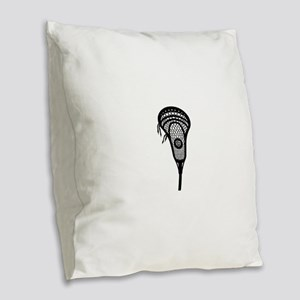 LAX Head Burlap Throw Pillow
