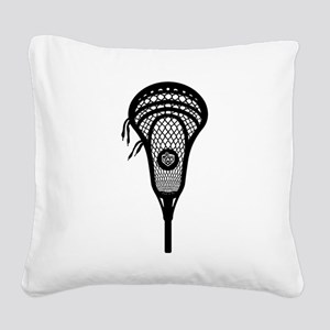 LAX Head Square Canvas Pillow