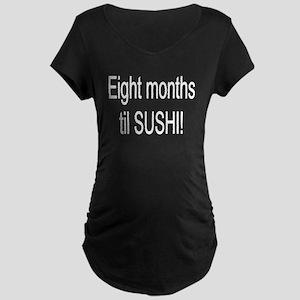 Eight Sushi Maternity Dark T-Shirt