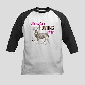Grandpa's Hunting Girl Kids Baseball Jersey
