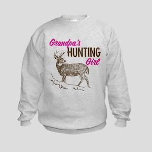 Grandpa's Hunting Girl Kids Sweatshirt
