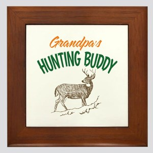 Grandpa's Hunting Buddy Framed Tile