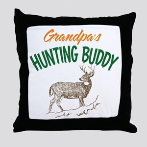 Grandpa's Hunting Buddy Throw Pillow
