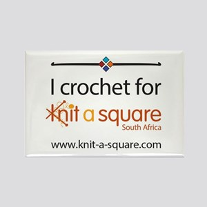 I Crochet For Knit-A-Square Magnets