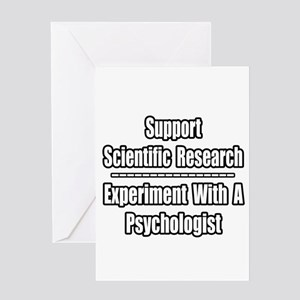 """""""Experiment...Psychologist"""" Greeting Card"""