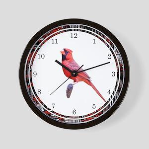 Majestic Cardinal Wall Clock