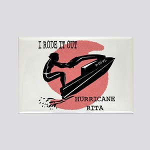 Rode Out Hurricane Rita Rectangle Magnet