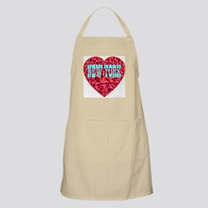 New York Skyblue Heart BBQ Apron