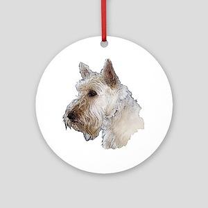 Scottish Terrier (Wheaten) Ornament (Round)