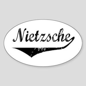 Nietzsche Oval Sticker