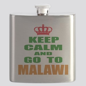 Keep Calm And Go To Malawi Country Flask