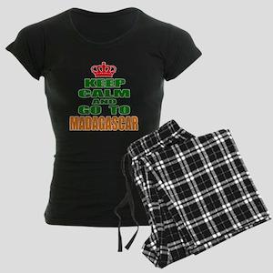 Keep Calm And Go To Madagasc Women's Dark Pajamas