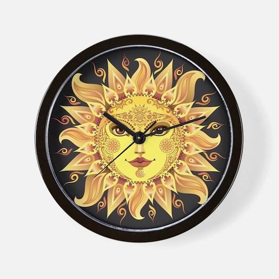 Stylish Sun Wall Clock
