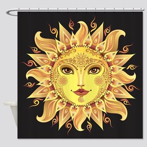 Stylish Sun Shower Curtain
