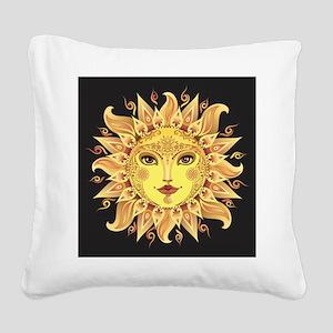 Stylish Sun Square Canvas Pillow