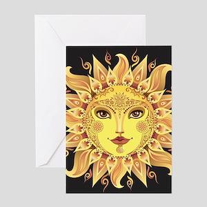 Stylish Sun Greeting Card