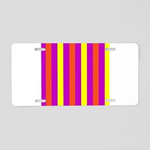 Purple Orange Yellow Delici Aluminum License Plate