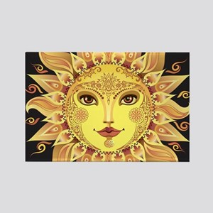 Stylish Sun Rectangle Magnet