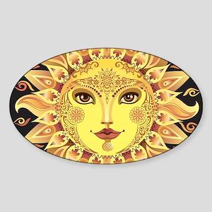 Stylish Sun Sticker (Oval)