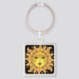 Stylish Sun Square Keychain