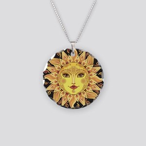 Stylish Sun Necklace Circle Charm