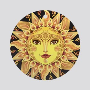 Stylish Sun Round Ornament