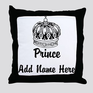 Personalized Prince Throw Pillow
