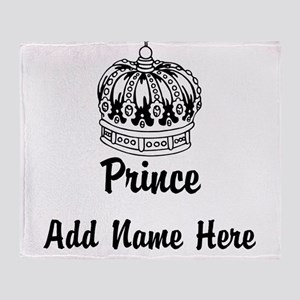 Personalized Prince Throw Blanket