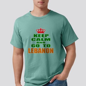 Keep Calm And Go To Leb Mens Comfort Colors® Shirt