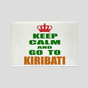 Keep Calm And Go To Kiribati Coun Rectangle Magnet