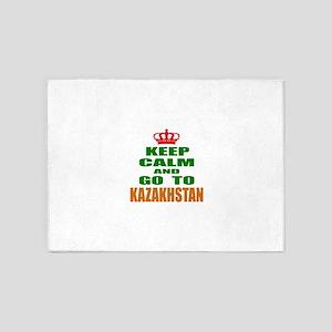 Keep Calm And Go To Kazakhstan Coun 5'x7'Area Rug