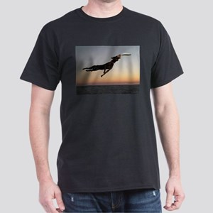 Beach Frisbee Dark T-Shirt